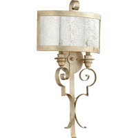 Quorum 5481-2-60 Champlain 2 Light 15 inch Aged Silver Leaf Wall Sconce Wall Light