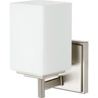 Quorum 5484-1-65 Delta 1 Light 5 inch Satin Nickel Wall Sconce Wall Light