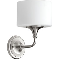 Quorum 5490-1-65 Rockwood 1 Light 7 inch Satin Nickel Wall Sconce Wall Light