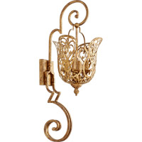 Quorum 5492-4-30 Le Monde 4 Light 12 inch Vintage Gold Leaf Wall Mount Wall Light