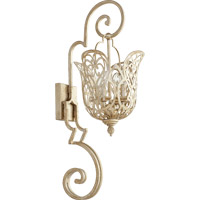 Quorum Le Monde 4 Light Wall Mount in Aged Silver Leaf 5492-4-60
