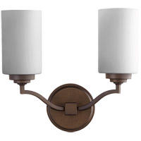 Quorum 5496-2-186 Atwood 13 inch Oiled Bronze Wall Mount Wall Light in Satin Opal, Satin Opal