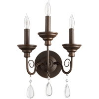 Vesta 3 Light 11 inch Oiled Bronze Wall Sconce Wall Light