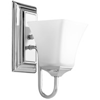 Quorum 5504-1-62 Signature 5 inch Polished Nickel Wall Mount Wall Light Satin Opal