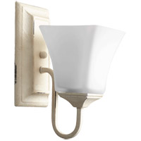 Quorum 5504-1-70 Signature 5 inch Persian White Wall Mount Wall Light, Satin Opal