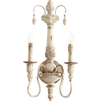 Quorum 5506-2-70 Salento 2 Light 12 inch Persian White Wall Sconce Wall Light