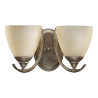 Powell 2 Light 13 inch Mystic Silver Wall Sconce Wall Light