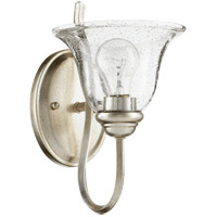 Spencer 7 inch Aged Silver Leaf Wall Mount Wall Light, Clear Seeded