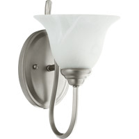 Spencer 1 Light 7 inch Classic Nickel Wall Sconce Wall Light in Satin Opal