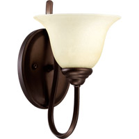 Spencer 1 Light 7 inch Oiled Bronze Wall Sconce Wall Light in Amber Scavo