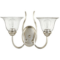 Quorum 5510-2-60 Spencer 2 Light 17 inch Aged Silver Leaf Wall Mount Wall Light Clear Seeded