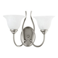 Spencer 2 Light 17 inch Classic Nickel Wall Sconce Wall Light in Faux Alabaster