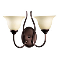 Quorum 5510-2-86 Spencer 2 Light 17 inch Oiled Bronze Wall Sconce Wall Light in Amber Scavo
