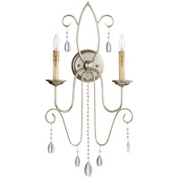 Quorum 5516-2-60 Cilia 13 inch Aged Silver Leaf Wall Mount Wall Light