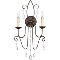 Quorum 5516-2-86 Cilia 2 Light 13 inch Oiled Bronze Wall Sconce Wall Light
