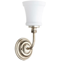 Quorum 5522-1-60 Rossington 1 Light 5 inch Aged Silver Leaf Wall Sconce Wall Light in Satin Opal