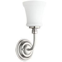 Quorum 5522-1-65 Rossington 1 Light 5 inch Satin Nickel Wall Sconce Wall Light in Satin Opal
