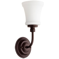 Quorum 5522-1-86 Rossington 1 Light 5 inch Oiled Bronze Wall Sconce Wall Light in Satin Opal