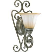 Quorum International Summerset 1 Light Wall Sconce in Mystic Silver 5526-1-58