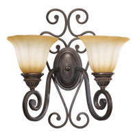 Quorum 5526-2-44 Summerset 2 Light 17 inch Toasted Sienna Wall Sconce Wall Light