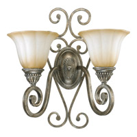 Quorum International Summerset 2 Light Wall Sconce in Mystic Silver 5526-2-58