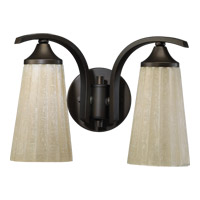 Quorum International Winslet 2 Light Wall Sconce in Oiled Bronze 5529-2-86