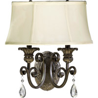 Quorum 5532-254 Fulton 2 Light 15 inch Classic Bronze Wall Sconce Wall Light