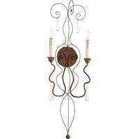 Quorum 5544-2-39 Venice 2 Light 11 inch Vintage Copper Wall Mount Wall Light