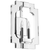 Quorum 555-2-62 Broadway 2 Light 11 inch Polished Nickel Wall Sconce Wall Light