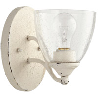 Quorum 5550-1-70 Brooks 6 inch Persian White Wall Mount Wall Light, Clear Seeded