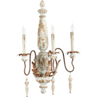 Quorum 5552-3-56 La Maison 3 Light 20 inch Manchester Grey with Rust Accents Wall Sconce Wall Light