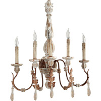 Quorum International La Maison 5 Light Wall Sconce in Manchester Grey with Rust Accents 5552-5-56