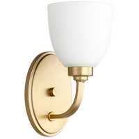 Quorum 5560-1-180 Reyes 1 Light 5 inch Aged Brass Wall Sconce Wall Light photo thumbnail