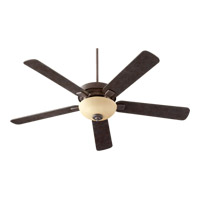 Quorum International Vanderbilt 2 Light Ceiling Fan in Toasted Sienna 55605-44