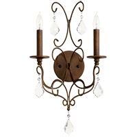 Quorum 5605-2-39 Ariel 2 Light 11 inch Vintage Copper Wall Sconce Wall Light photo thumbnail