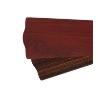 Quorum 5655524165 Fort Worth 56 inch Set of 5 Fan Blades in Rosewood and Walnut