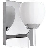 Quorum International Signature 1 Light Wall Sconce in Chrome 5667-1-14