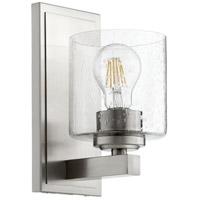Quorum 5669-1-265 Fort Worth 1 Light 5 inch Satin Nickel Wall Sconce Wall Light