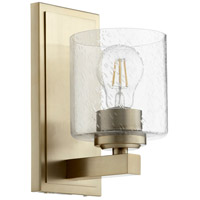 Quorum 5669-1-280 Fort Worth 1 Light 5 inch Aged Brass Wall Sconce Wall Light