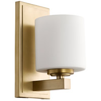 Quorum 5669-1-80 Signature 1 Light 5 inch Aged Brass Wall Sconce Wall Light