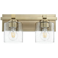 Quorum 5669-2-280 Fort Worth 2 Light 14 inch Aged Brass Wall Sconce Wall Light