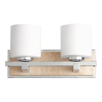 Quorum International Travertine 2 Light Wall Sconce in Chrome 5670-2-14