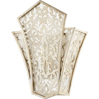Bastille 2 Light 13 inch Aged Silver Leaf Wall Sconce Wall Light