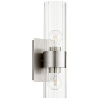 Quorum 5826-2-65 Fort Worth 2 Light 5 inch Satin Nickel Wall Sconce Wall Light