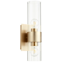 Quorum 5826-2-80 Fort Worth 2 Light 5 inch Aged Brass Wall Sconce Wall Light