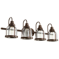 Quorum 586-4-86 Signature 4 Light 33 inch Oiled Bronze Vanity Light Wall Light photo thumbnail