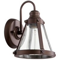 Quorum 587-1-86 Banded Cone 1 Light 7 inch Oiled Bronze Wall Sconce Wall Light