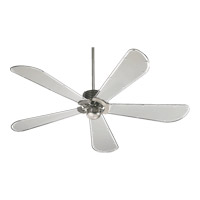 Quorum 59605-65 Dragonfly 60 inch Satin Nickel with Grey Mylar Blades Ceiling Fan