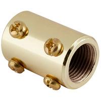 Quorum 6-002 Fan Accessory Polished Brass Fan Downrod Coupler