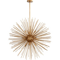 Quorum 600-10-74 Electra 10 Light 35 inch Gold Leaf Pendant Ceiling Light